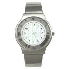 Allover Graphic Soft Aqua Stainless Steel Watch (Slim)