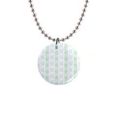 Allover Graphic Soft Aqua Button Necklace