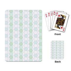 Allover Graphic Soft Aqua Playing Cards Single Design