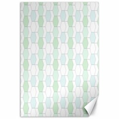 Allover Graphic Soft Aqua Canvas 12  x 18  (Unframed)