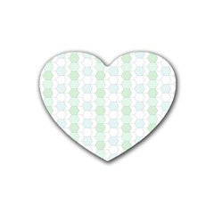 Allover Graphic Soft Aqua Drink Coasters 4 Pack (Heart)