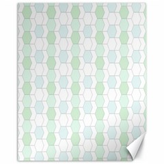 Allover Graphic Soft Aqua Canvas 11  x 14  (Unframed)