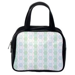 Allover Graphic Soft Aqua Classic Handbag (One Side)