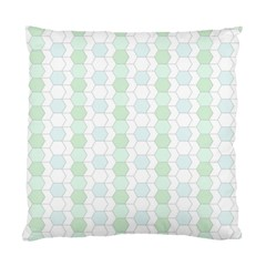 Allover Graphic Soft Aqua Cushion Case (Two Sided)