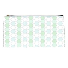 Allover Graphic Soft Aqua Pencil Case