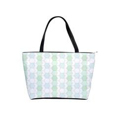 Allover Graphic Soft Aqua Large Shoulder Bag