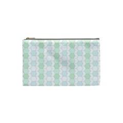 Allover Graphic Soft Aqua Cosmetic Bag (Small)