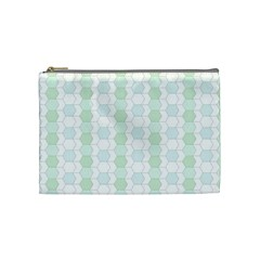Allover Graphic Soft Aqua Cosmetic Bag (medium)