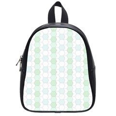 Allover Graphic Soft Aqua School Bag (Small)