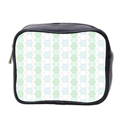 Allover Graphic Soft Aqua Mini Travel Toiletry Bag (Two Sides)