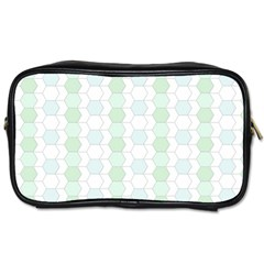 Allover Graphic Soft Aqua Travel Toiletry Bag (one Side)
