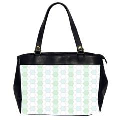 Allover Graphic Soft Aqua Oversize Office Handbag (Two Sides)