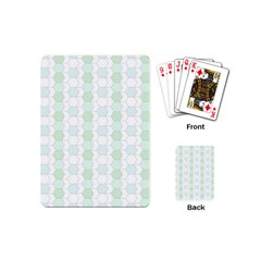 Allover Graphic Soft Aqua Playing Cards (mini)
