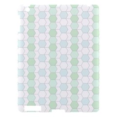 Allover Graphic Soft Aqua Apple iPad 3/4 Hardshell Case