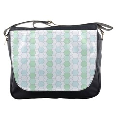 Allover Graphic Soft Aqua Messenger Bag