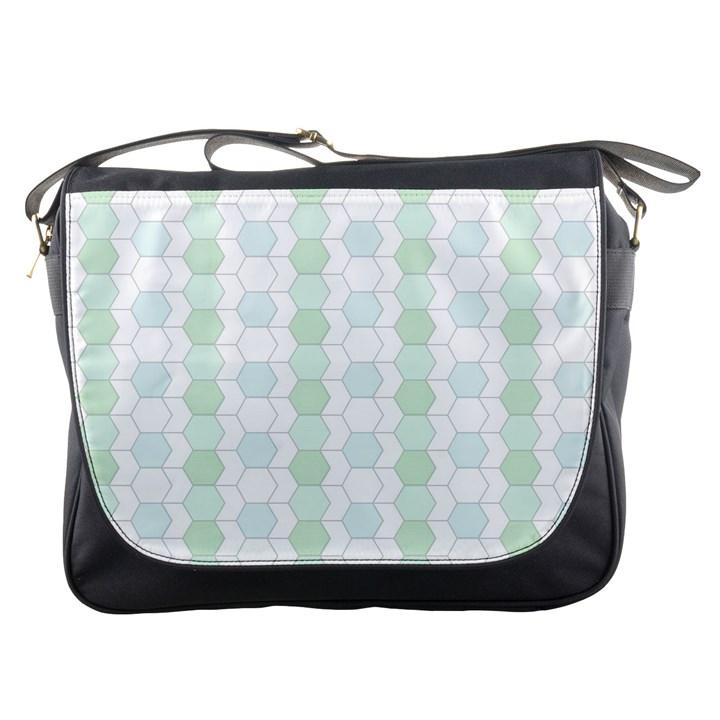 Allover Graphic Soft Aqua Messenger Bag