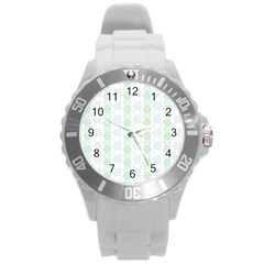 Allover Graphic Soft Aqua Plastic Sport Watch (Large)