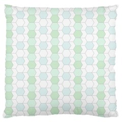 Allover Graphic Soft Aqua Large Cushion Case (Two Sided)