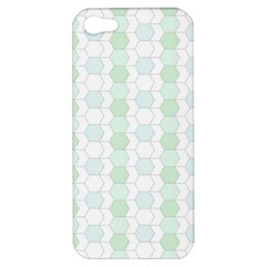 Allover Graphic Soft Aqua Apple Iphone 5 Hardshell Case