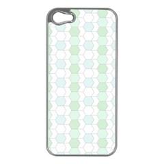 Allover Graphic Soft Aqua Apple iPhone 5 Case (Silver)