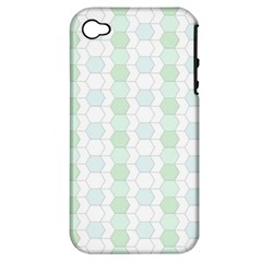 Allover Graphic Soft Aqua Apple Iphone 4/4s Hardshell Case (pc+silicone)