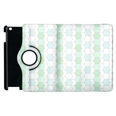 Allover Graphic Soft Aqua Apple iPad 2 Flip 360 Case