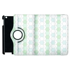Allover Graphic Soft Aqua Apple Ipad 3/4 Flip 360 Case