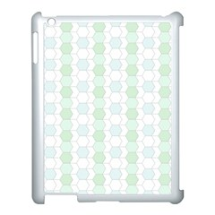 Allover Graphic Soft Aqua Apple iPad 3/4 Case (White)