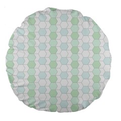 Allover Graphic Soft Aqua 18  Premium Round Cushion
