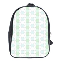 Allover Graphic Soft Aqua School Bag (xl)
