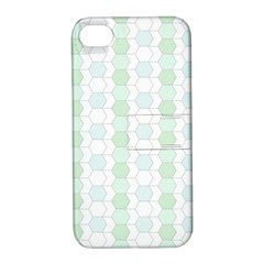 Allover Graphic Soft Aqua Apple iPhone 4/4S Hardshell Case with Stand