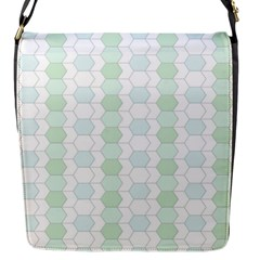 Allover Graphic Soft Aqua Flap Closure Messenger Bag (small)
