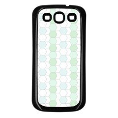 Allover Graphic Soft Aqua Samsung Galaxy S3 Back Case (black)