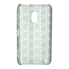 Allover Graphic Soft Aqua Nokia Lumia 620 Hardshell Case
