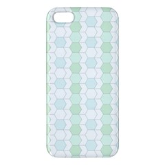 Allover Graphic Soft Aqua iPhone 5S Premium Hardshell Case
