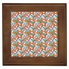 Allover Graphic Brown Framed Ceramic Tile