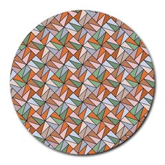 Allover Graphic Brown 8  Mouse Pad (round)
