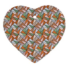 Allover Graphic Brown Heart Ornament