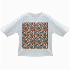 Allover Graphic Brown Baby T Shirt