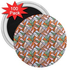 Allover Graphic Brown 3  Button Magnet (100 pack)