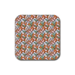 Allover Graphic Brown Drink Coaster (square)