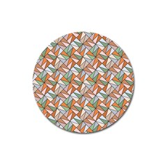 Allover Graphic Brown Magnet 3  (Round)