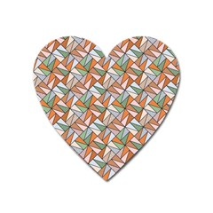 Allover Graphic Brown Magnet (Heart)