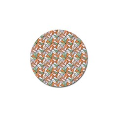Allover Graphic Brown Golf Ball Marker