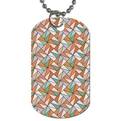 Allover Graphic Brown Dog Tag (Two-sided)