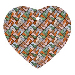 Allover Graphic Brown Heart Ornament (Two Sides)