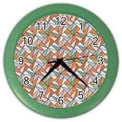 Allover Graphic Brown Wall Clock (color)