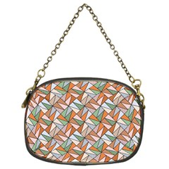 Allover Graphic Brown Chain Purse (Two Sided)