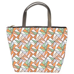 Allover Graphic Brown Bucket Handbag