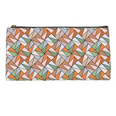 Allover Graphic Brown Pencil Case